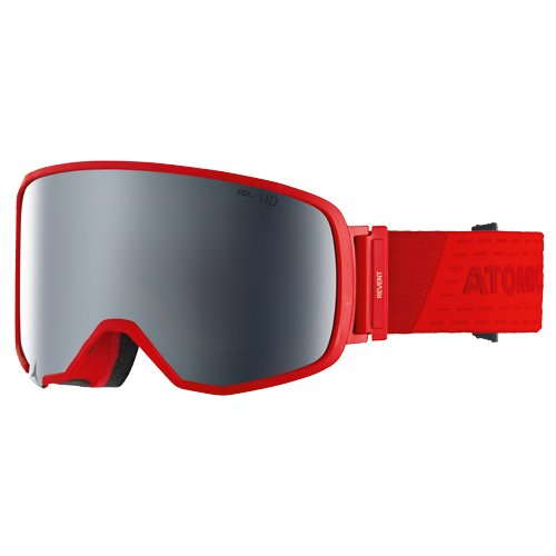 Atomic Skibrille rotes Band schwarzes Glas